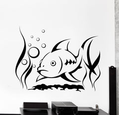Vinyl Wall Decal Fish River Sea Undersea Underwater Home Interior Decor Unique Gift z4472