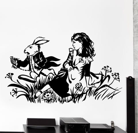 Vinyl Wall Decal Alice Adventures In Wonderland English Classic Home Decor z4487