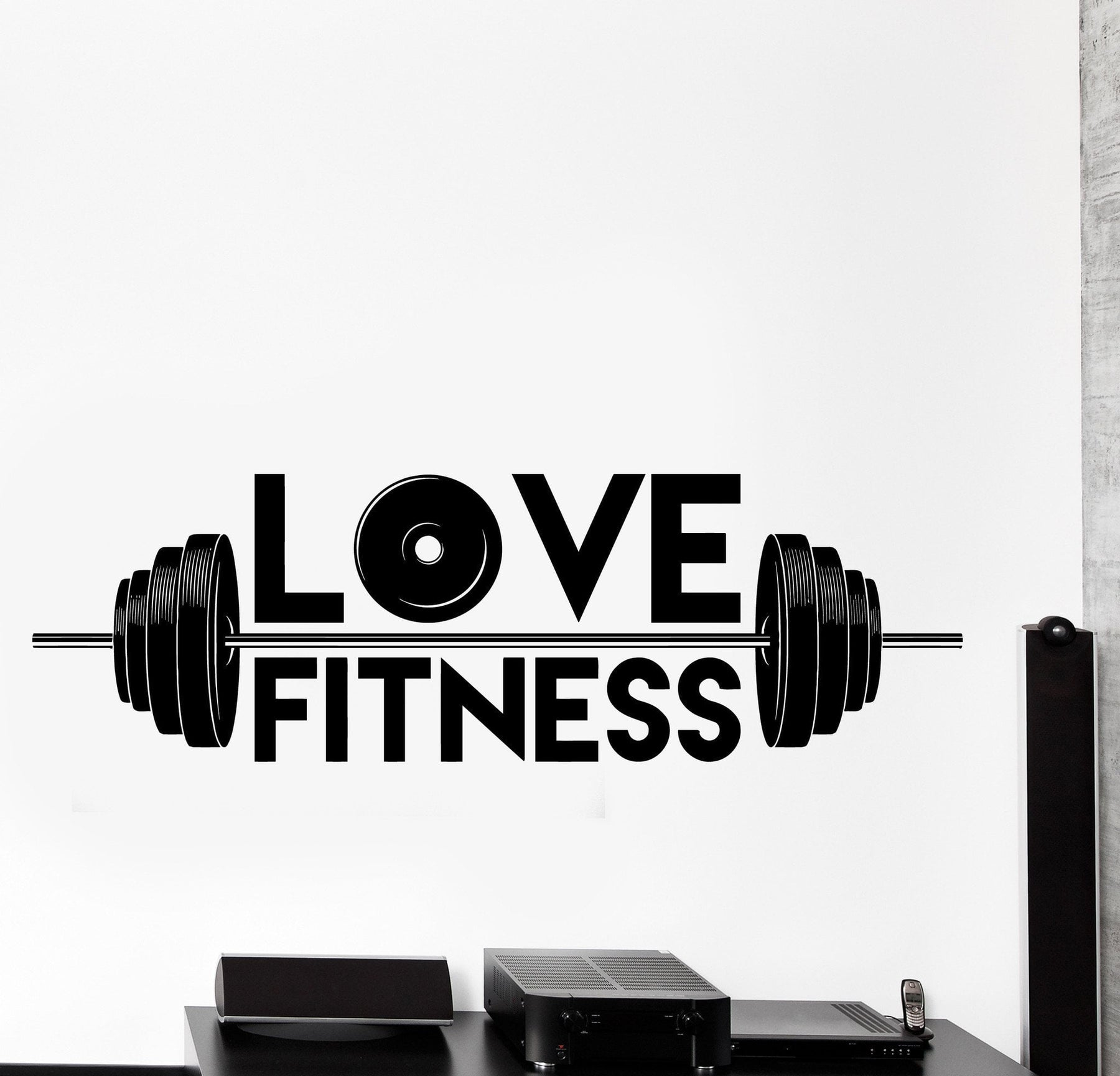 Vinyl Wall Decal I Love Sport Fitness Barbell Gym Home Interior Decor Unique Gift z4489