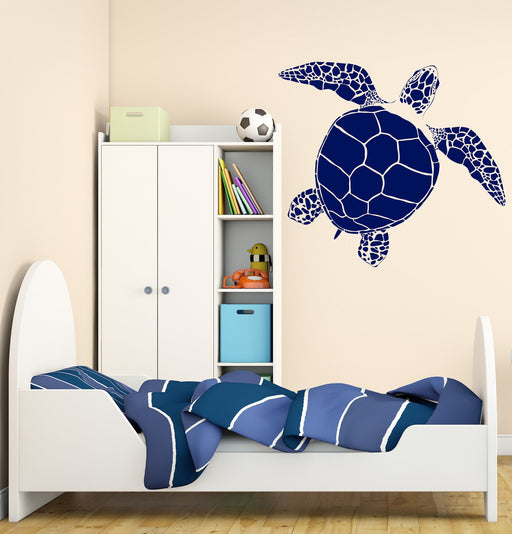 Large Wall Vinyl Decal Ocean Sea Turtle Home Kids Nautical Decor Unique Gift (z4543)