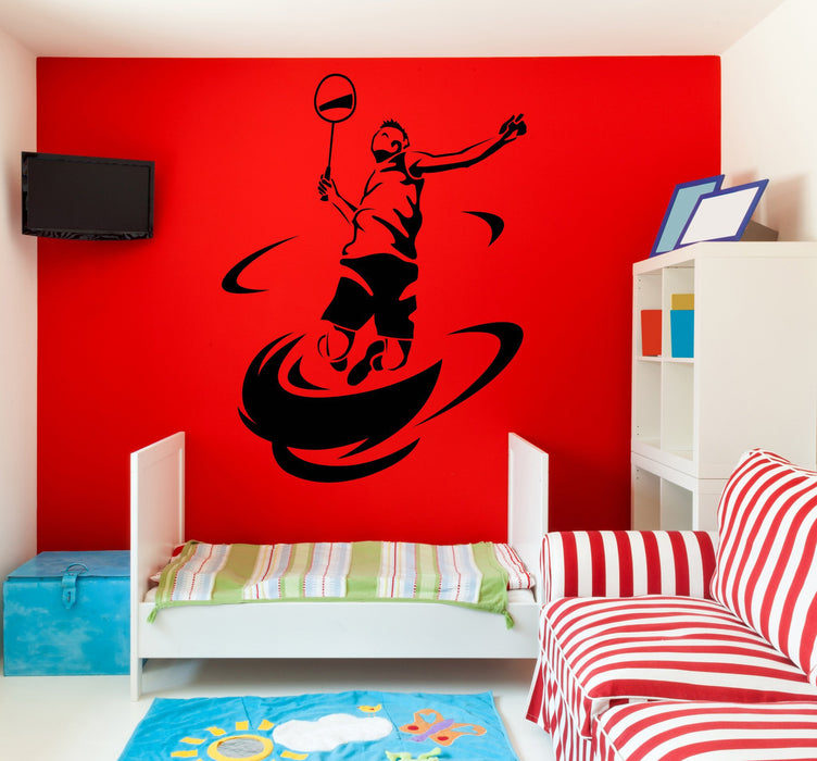 Large Wall Vinyl Decal Tennis Athlet Sport Player Racket Ball Unique Gift z4544