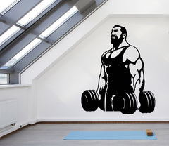 Large Wall Vinyl Decal Bodybuilding Muscles Decor for the Gym Unique Gift (z4551)