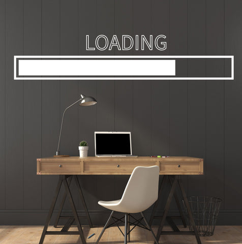 Large Vinyl Decal  Loading Gamer Video Game Computer Play Room (z4559)