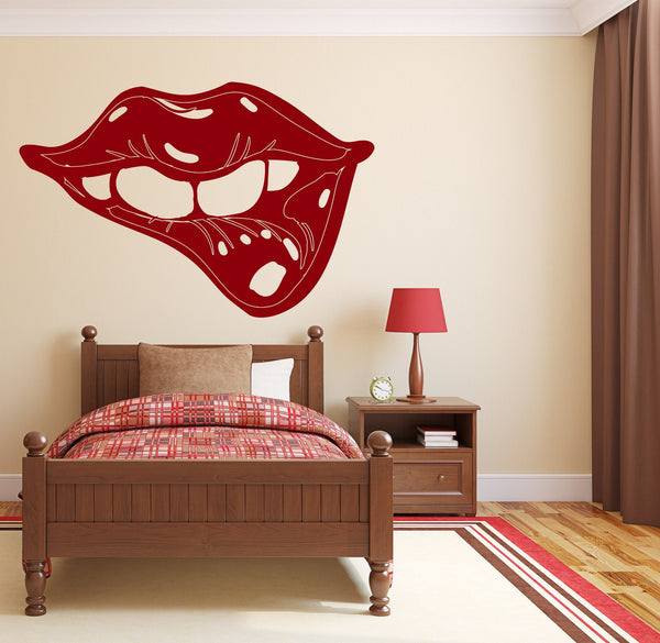 Large Wall Vinyl Decal Sexy Lips Decor For Bedroom And