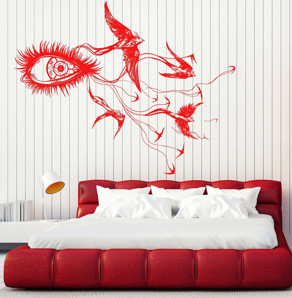 Large Wall Vinyl Decal Fantastic Bird Eye Orientation Stars Space Unique Gift z4596