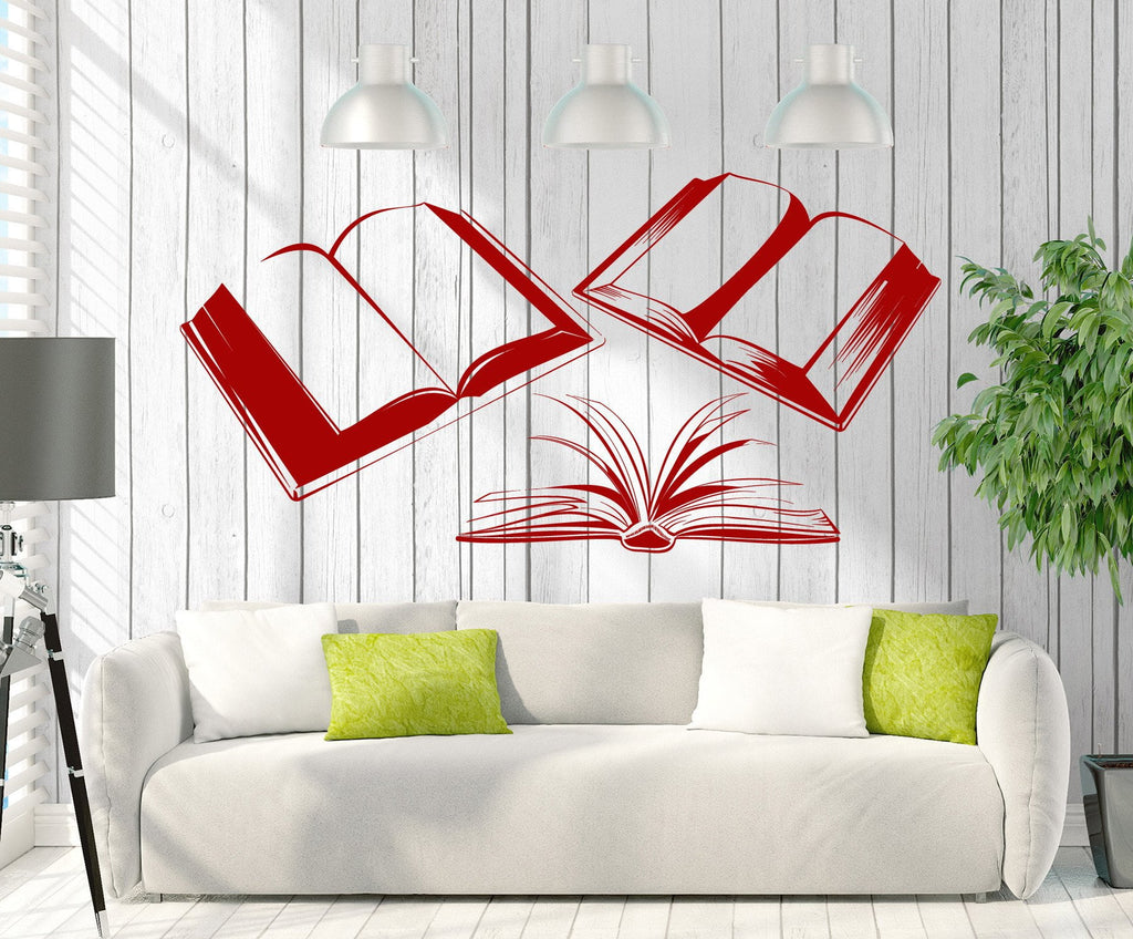 Vinyl Decal Wall Sticker Books Reading Room Library Bookstore - Vinyl wall decals books