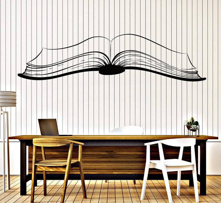 Large Vinyl Decal Wall Sticker Open Book Reading Stories Library decor Unique Gift (z4710)