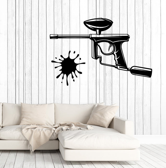 Large Wall Vinyl Decal Sports Game Gun Paintball Signboard Recreation Club Decor Unique Gift z4086