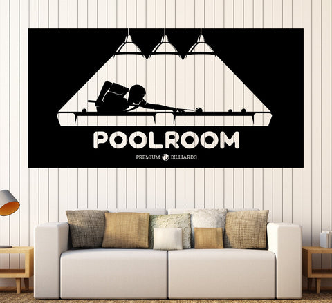 Large Vinyl Decal Wall Sticker Billiards Hobbies Sports Leisure Pool Room Decor z4804