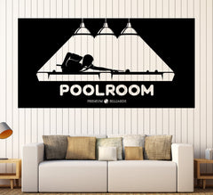 Large Vinyl Decal Wall Sticker Billiards Hobbies Sports Leisure Pool Room Decor Unique Gift z4804