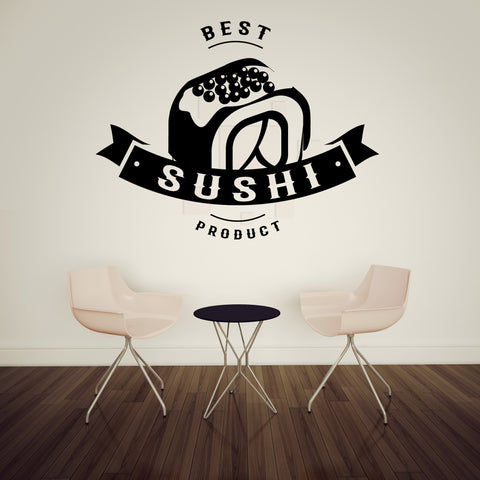 Large Wall Vinyl Decal Sushi Product Taste Japanese Food  Interior Decor z4839