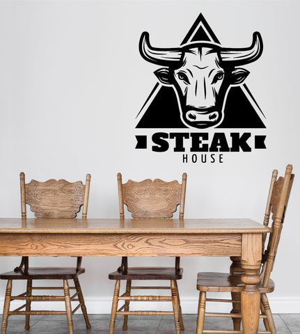 Large Wall Vinyl Decal Restaurant Signboard Steak House Interior Decor z4847
