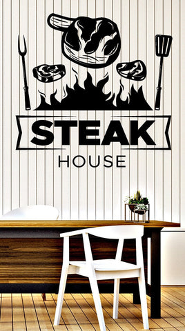 Large Wall Vinyl Decal Restaurant Signboard Steak House Interior Decor z4848