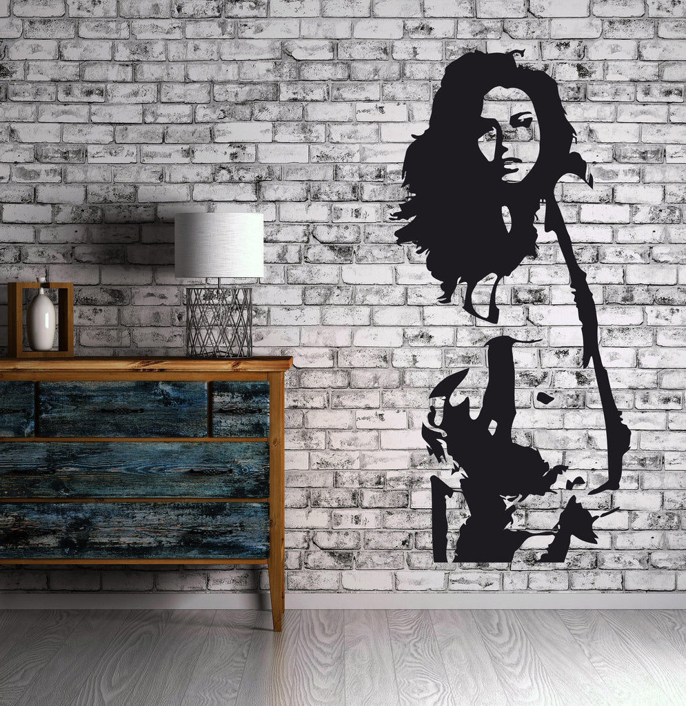 Sexy Hot Girl Woman Hair Spa Beauty Salon Wall Art Decor Vinyl Sticker Unique Gift z522