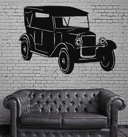 Sport Race Antique Car Motor Vehicle Mural  Wall Art Decor Vinyl Sticker z546