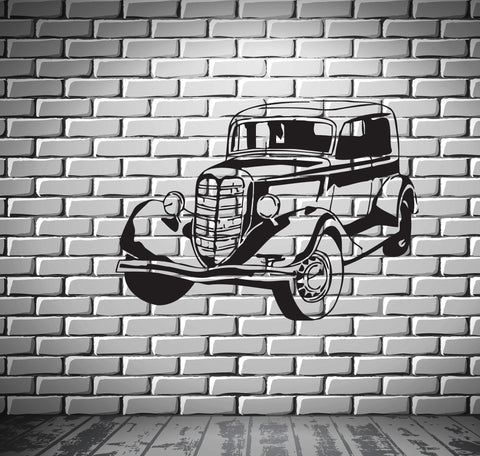Sport Race Antique Car Motor Vehicle Mural  Wall Art Decor Vinyl Sticker z548