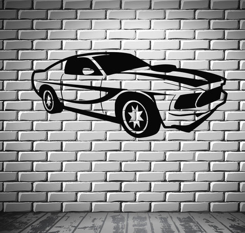 Sport Race Speed Car Motor Vehicle Mural  Wall Art Decor Vinyl Sticker z552