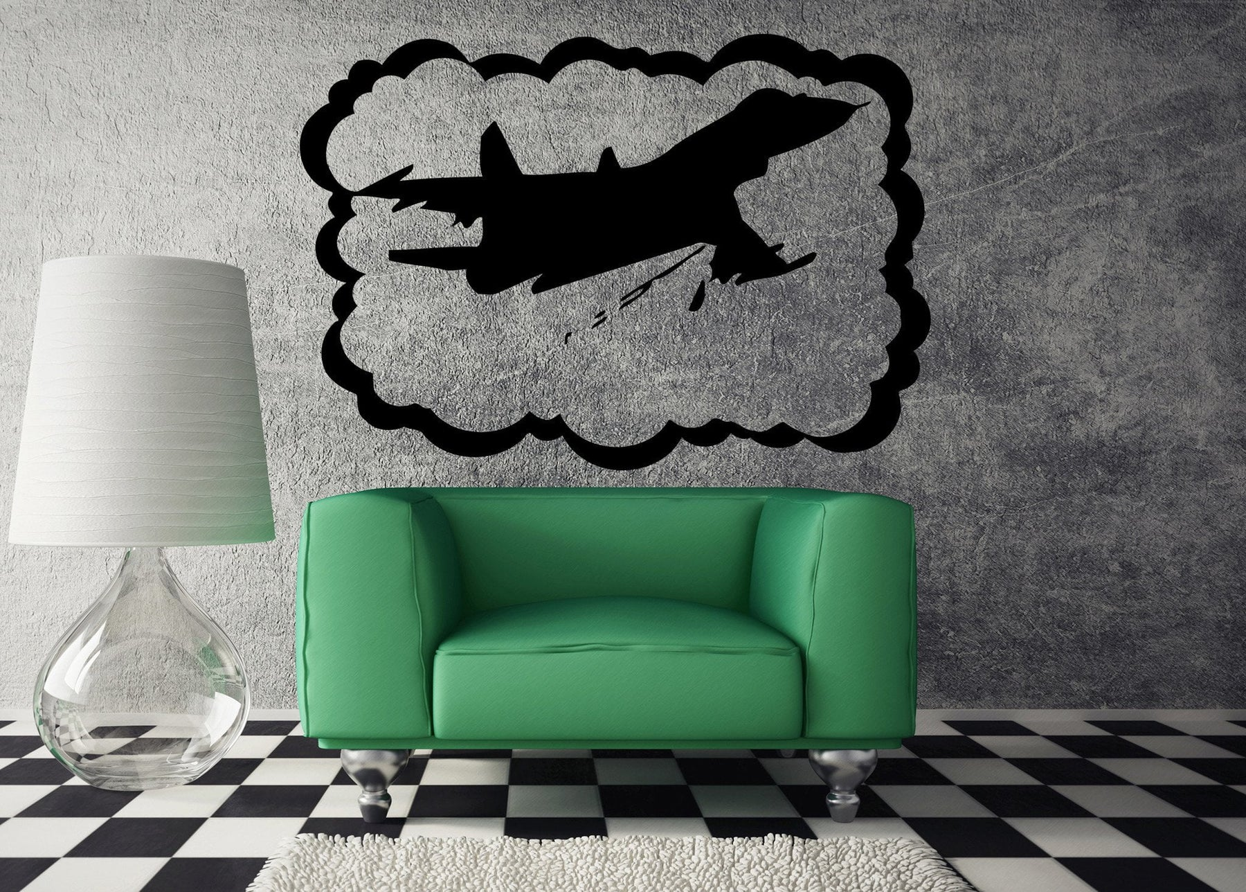 Vinyl Decal Airplane Airforce Jet Aviation Military Art Mural Wall Decor Sticker Boy's Children's Room Nursery Decoration Unique Gift (z553)