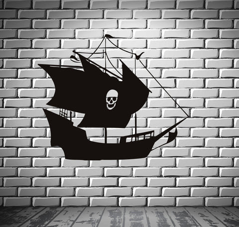 Ship Yacht Boat Pirate See Ocean Marine Mural  Wall Art Decor Vinyl Sticker z555