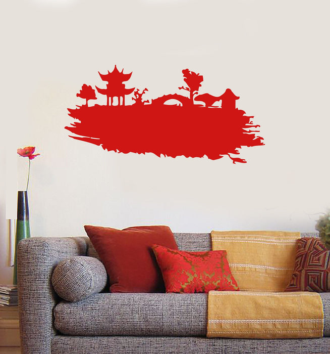 China Pagoda Oriental Decor East Mural Wall Art Decor Vinyl Sticker Unique Gift z581