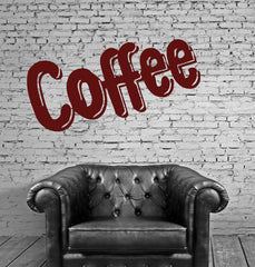 Coffee Tea Shop Restaurant  Business  Mural  Wall Art Decor Vinyl Sticker z686