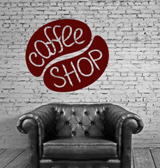 Coffee Tea Shop Restaurant Business Mural Wall Art Decor Vinyl Sticker Unique Gift z689