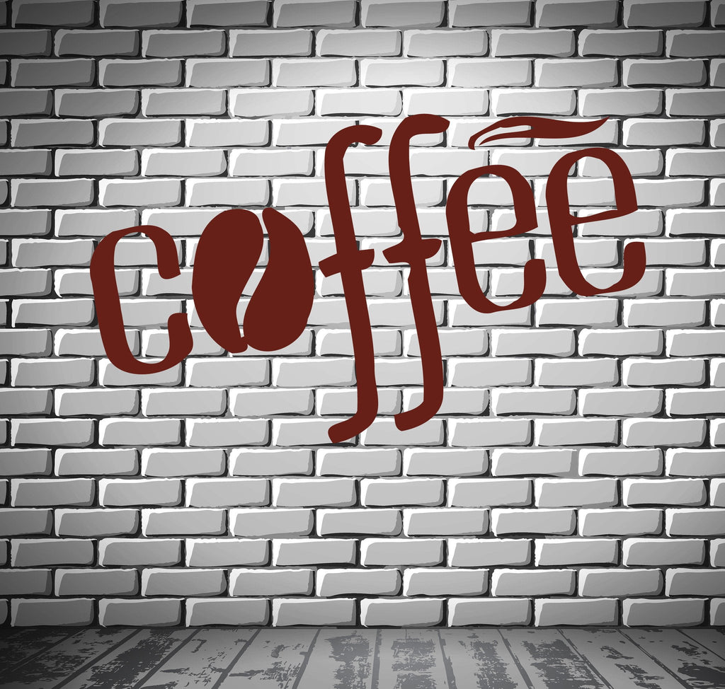 Coffee Tea Shop Restaurant  Business  Mural  Wall Art Decor Vinyl Sticker z690