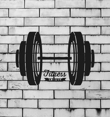 Barbell Iron Sport Bodybuilding Fitness Mural Wall Art Decor Vinyl Sticker Unique Gift z745