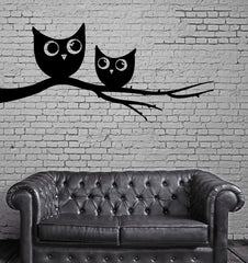 Funny Owls On A Tree Funny Children Decor Wall MURAL Vinyl Art Sticker z771