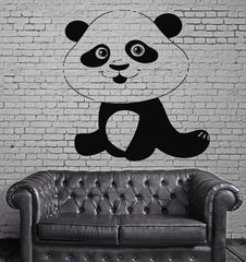 Funny Smiling Panda Positive Kids Decor Wall MURAL Vinyl Art Sticker z772