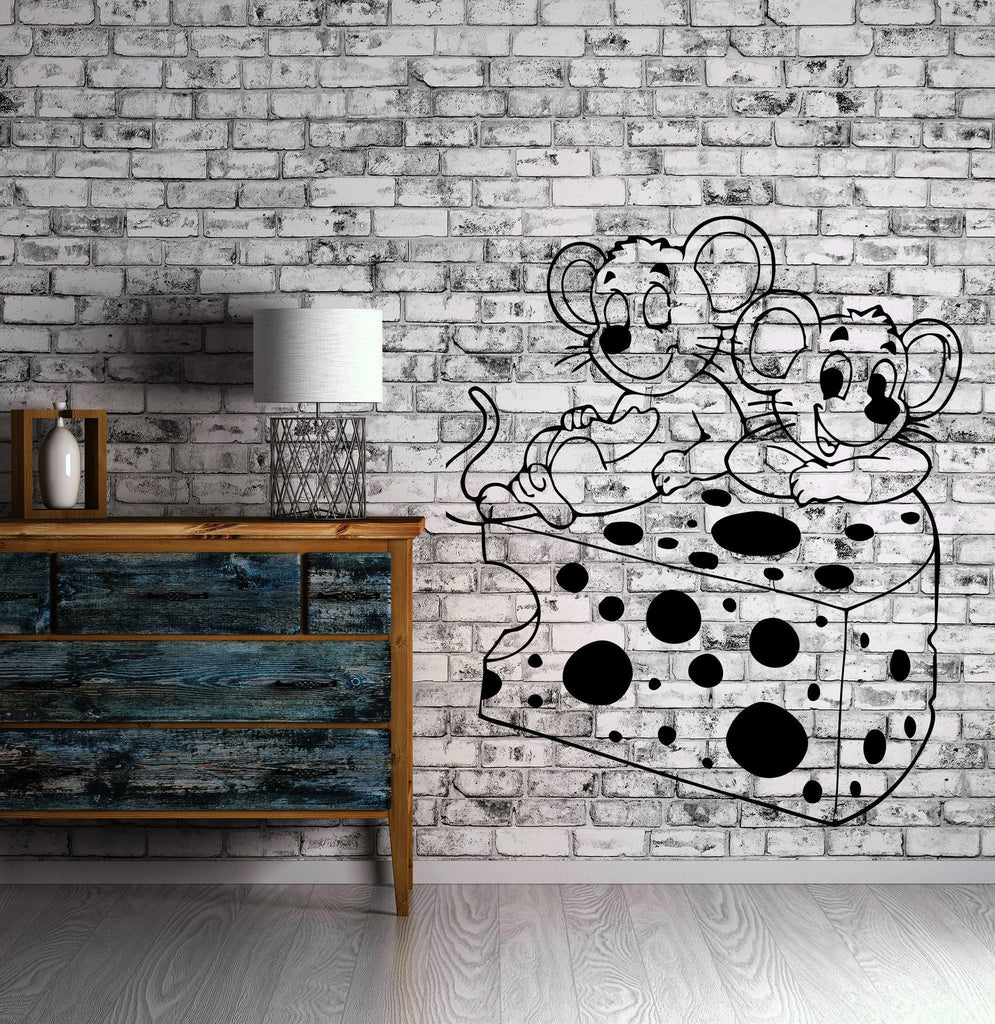 Friends Mouse And Cheese Kids Positive Decor Wall MURAL Vinyl Art Sticker z781