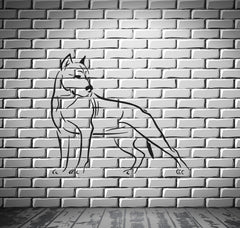 Dog Pitbull Predator AggressiveTribal Decor Wall MURAL Vinyl Art Sticker z787