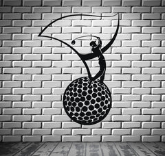 Golf Club Ball Sign Simbol Sport  Decor Wall MURAL Vinyl Art Sticker z832