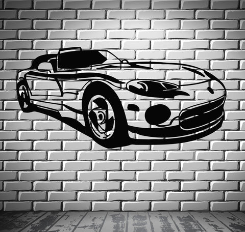 Sport Race Speed Car Motor Vehicle Mural  Wall Art Decor Vinyl Sticker z860