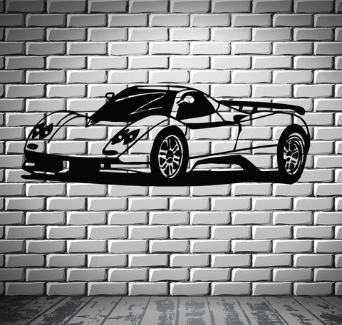 Sport Race Speed Car Motor Vehicle Mural  Wall Art Decor Vinyl Sticker z866