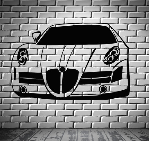 Sport Race Speed Car Motor Vehicle Mural Wall Art Decor Vinyl Sticker (z869)