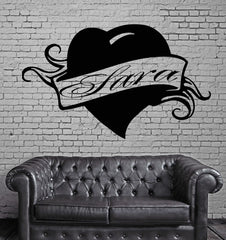 Sara Personalized Name Lettering Custom Wall Art Decor Vinyl Sticker Unique Gift z982