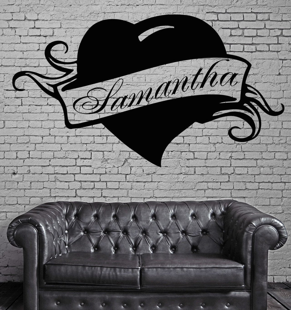 Samantha Personalized Name Lettering Custom Wall Art Decor Vinyl Sticker Unique Gift z984