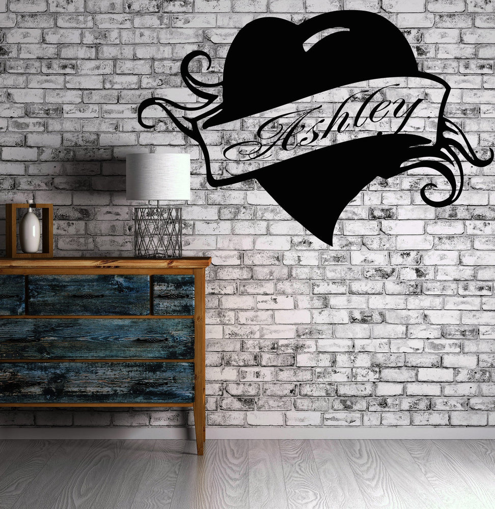 Vinyl Decal Wall Sticker Ashley Personalized Name Lettering Custom Quote Modern Home Decor Unique Gift (z989)