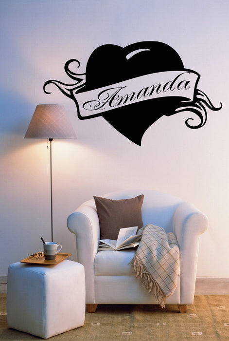 Vinyl Decal Amanda Personalized Name Lettering Custom Wall Art Decor Sticker for Girl's Room Unique Gift (z990)