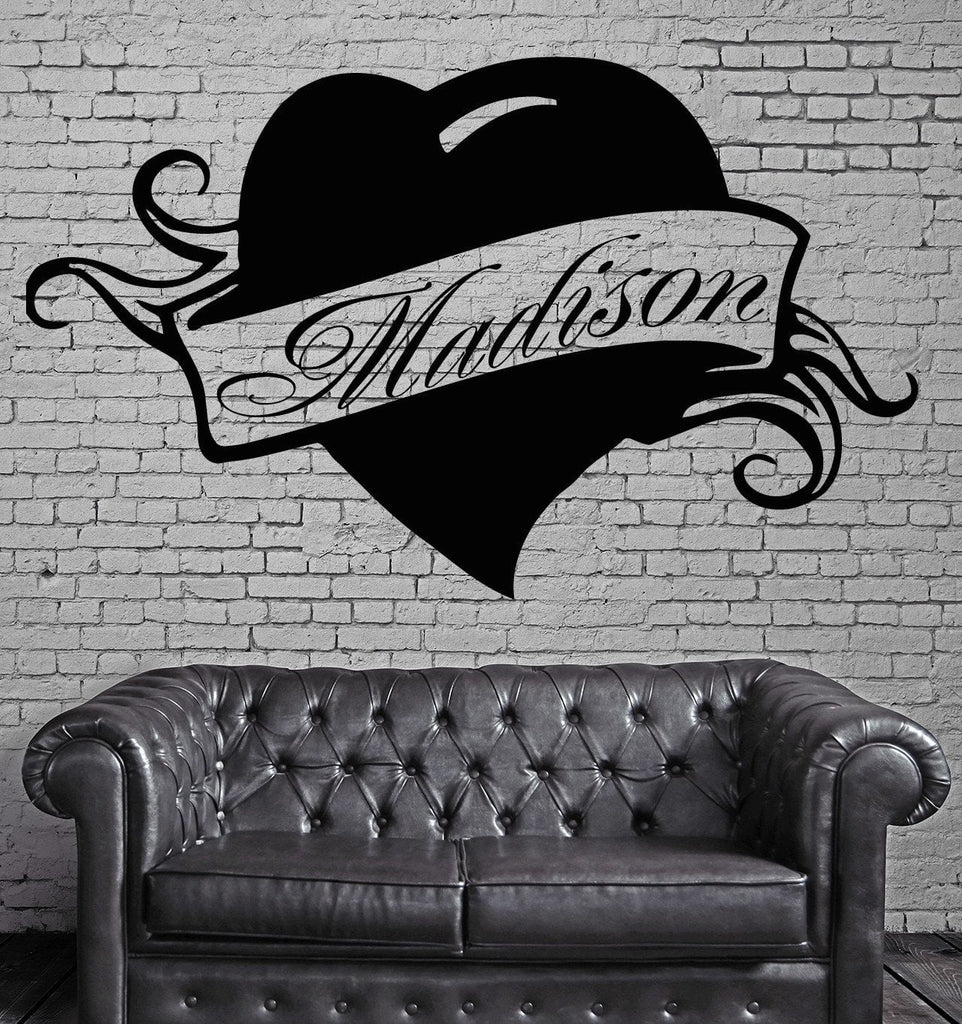 Madison Personalized Name Lettering Custom Wall Art Decor Vinyl Sticker Unique Gift z994