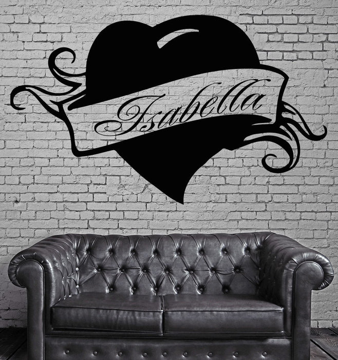 Isabella Personalized Name Lettering Custom Wall Art Decor Vinyl Sticker Unique Gift z995