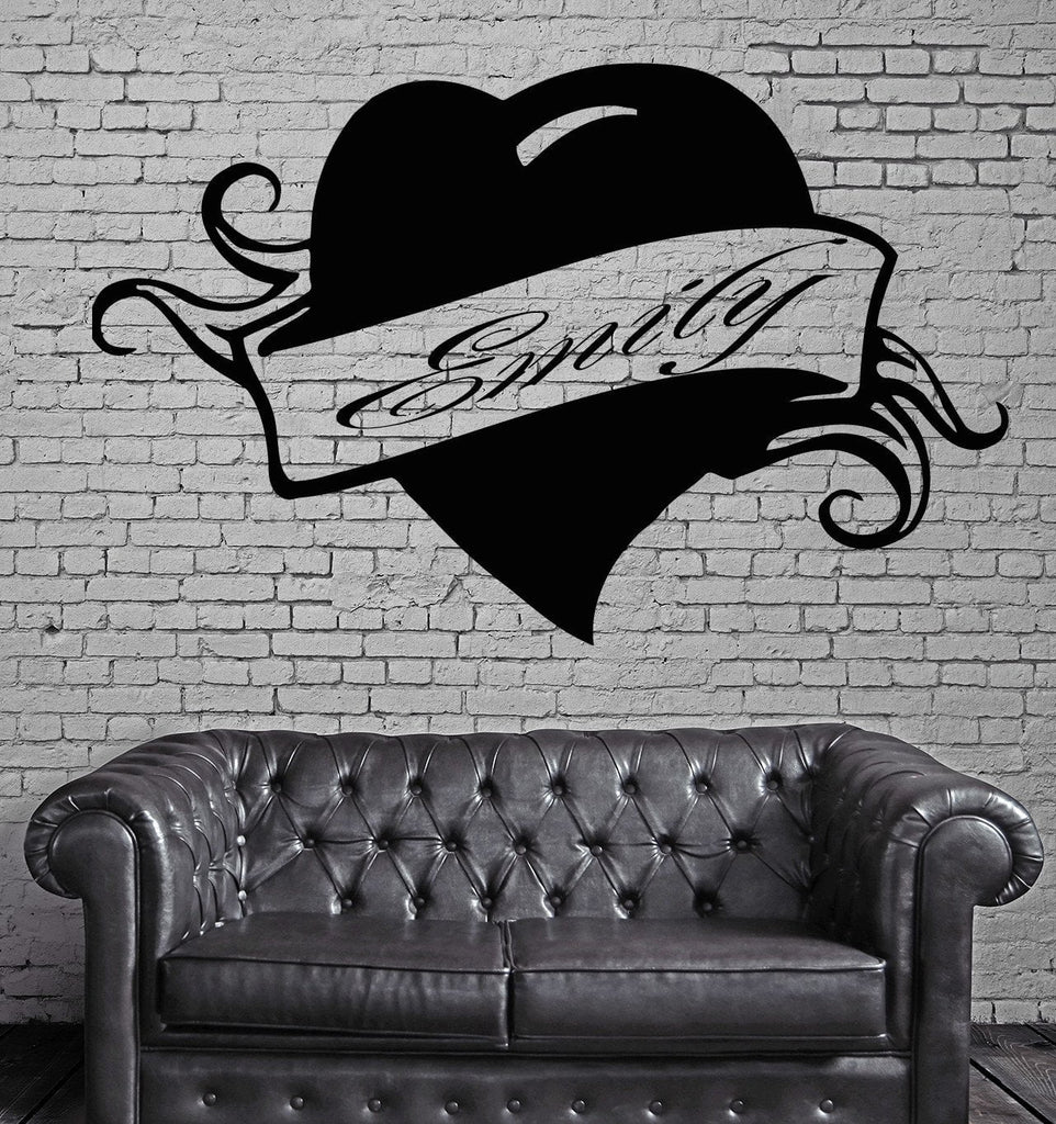 Emily Personalized Name Lettering Custom Wall Art Decor Vinyl Sticker z997