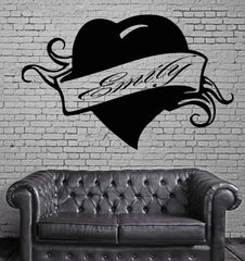 Emily Personalized Name Lettering Custom Wall Art Decor Vinyl Sticker Unique Gift z997