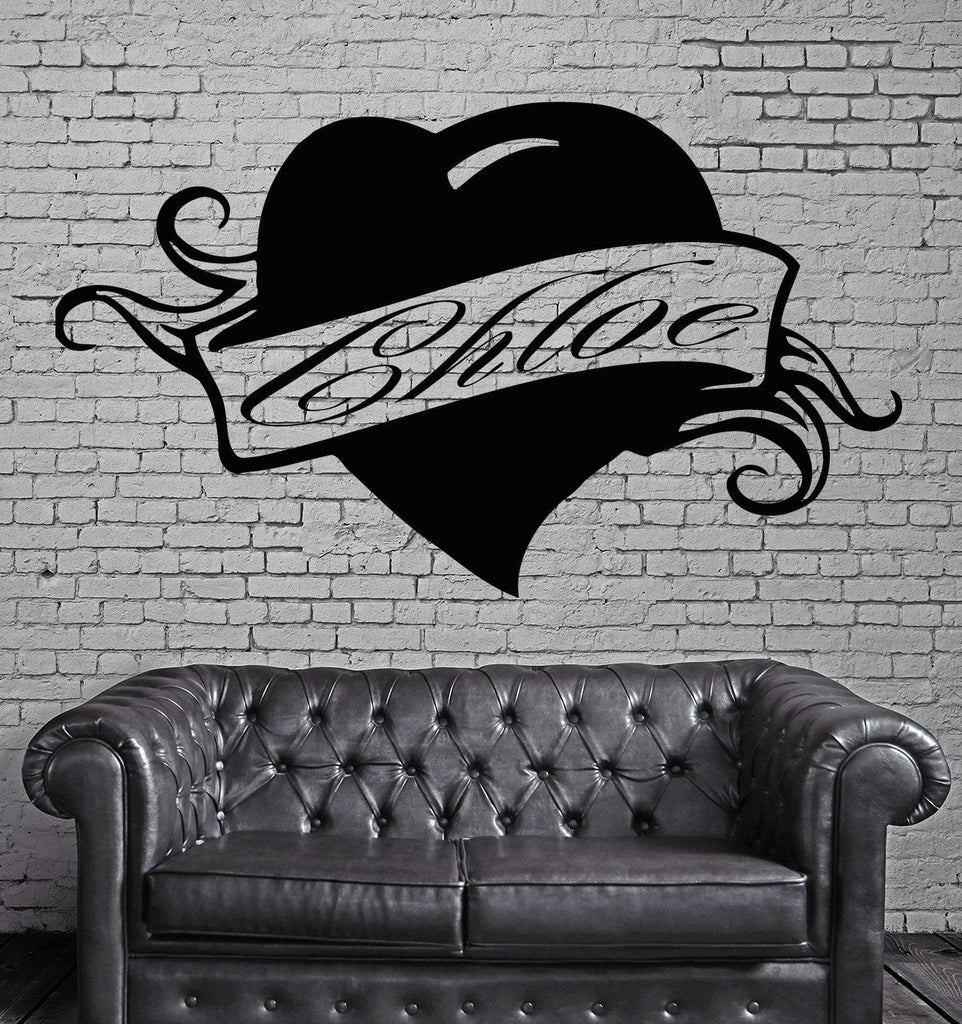 Chloe Personalized Name Lettering Custom Wall Art Decor Vinyl Sticker z998