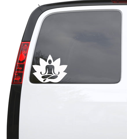 "Auto Car Sticker Decal Lotus Meditation Yoga Zen Flower Truck Laptop Window 6.3"" by 5"" 684igc"