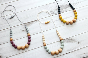 Getting Sew Crafty Isla Silicone and Wood Teething Necklace