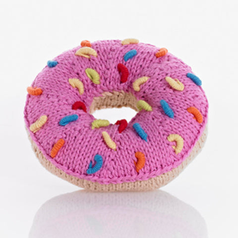 Pebble Donut Rattle - Pink Sprinkles