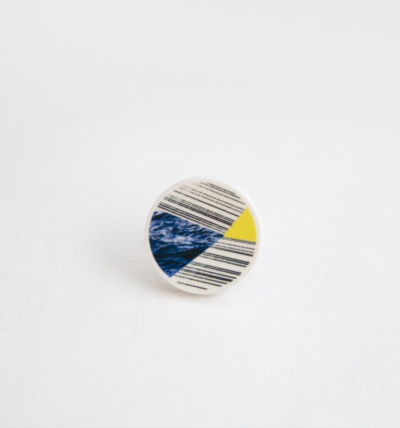 Palomino No.8 / Ceramic Brooch