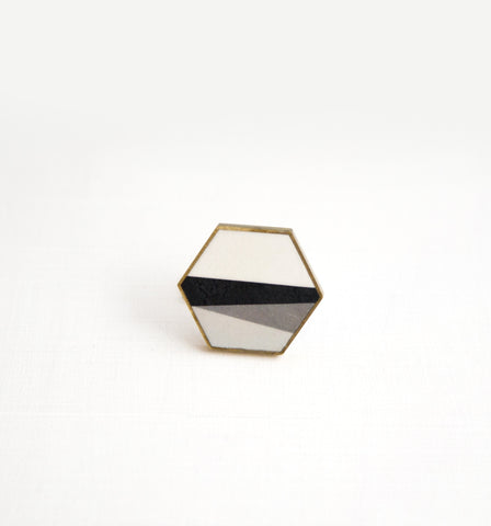 Nero No.1 / Ceramic Brooch